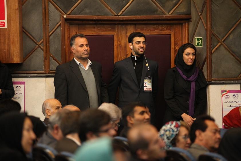 رضا معطوفی و هانیه فلاح از فعالان انجمن