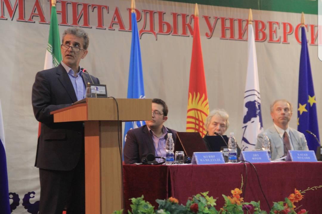 سخنرانی موسوی چلک در کنفرانس قرقیزستان