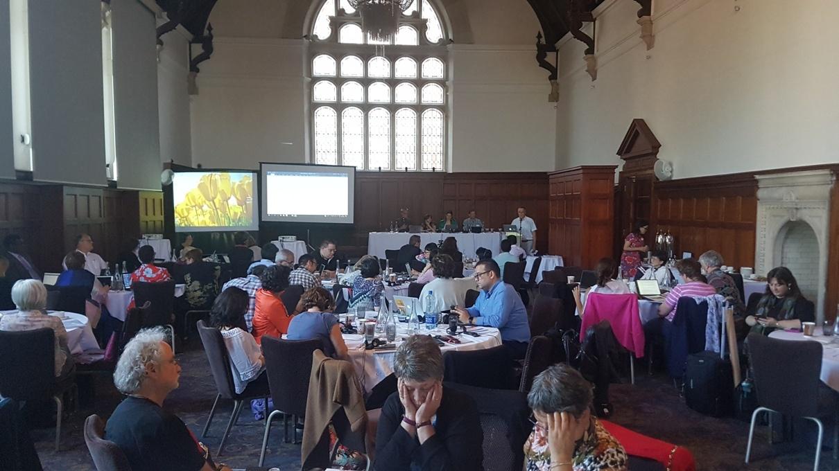 نمایی از صحن مجمع عمومی فدراسیون بین المللی مددکاران اجتماعی 2018