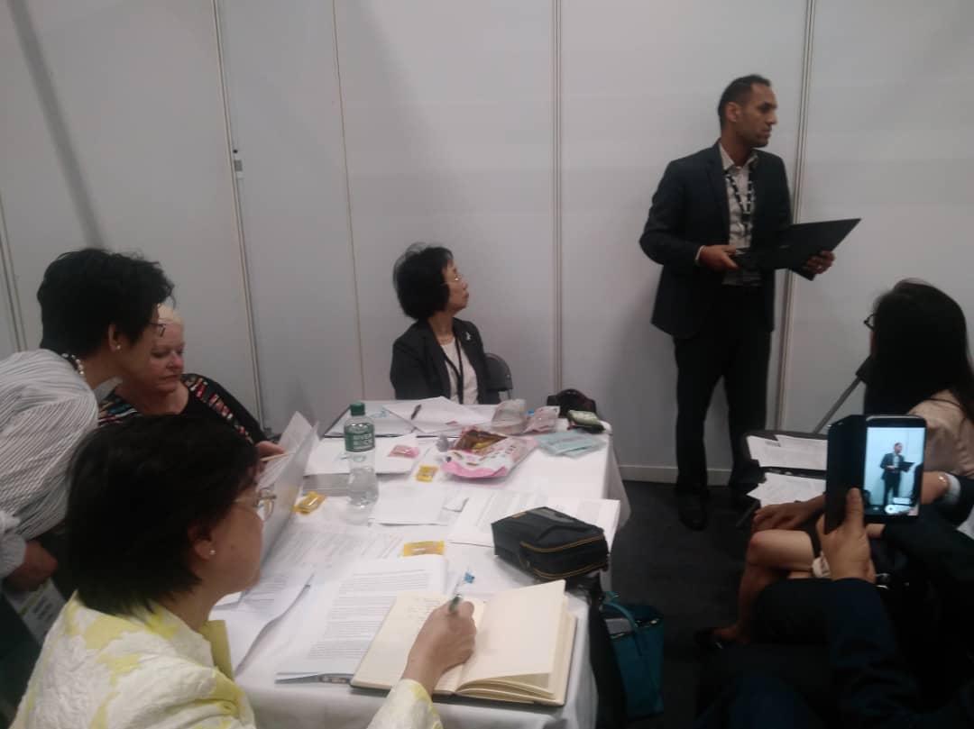 ارائه گزارش عملکرد انجمن ایران در جلسه آسیا اقیانوسیه فدراسیون