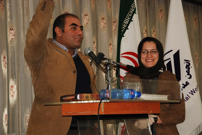 عباس افروشه در کار همسرشان خانم ایمانی